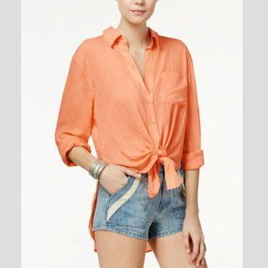 Free People That's A Wrap Oversized Oxford S/P